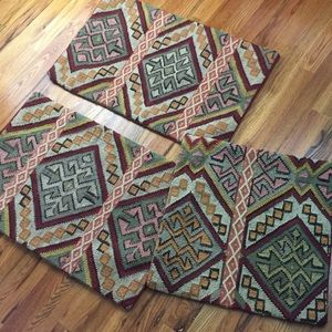 Pottery barn gorgeous lot of 3 Kilim pillow covers
